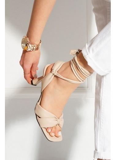 Derithy Saulden Topuklu Ayakkabı-Ten-Byc1704 Ten